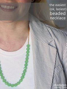 The easiest beaded necklace tutorial | Madigan Made