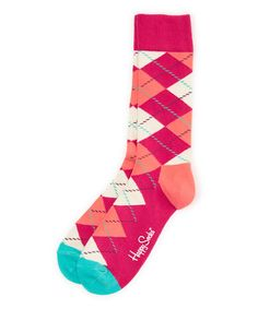 Another great find on #zulily! Pink Argyle Socks - Adult #zulilyfinds