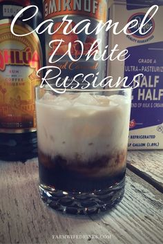 If you love a caramel macchiato, then the Caramel White Russian recipe will be a great coffee cocktail or after dinner drink for you in place of dessert.