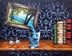 """Nostalgia"" acrylic and airbrush www.LorrieBridges.com"