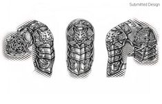 chest armor tattoo - Google Search