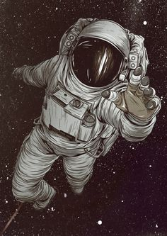 Не улетай... космос, Cosmonaut, artwork