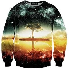 The lake at night Sweatshirt