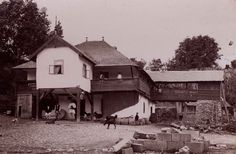 """Traditional houses in rural Romania (case traditionale romanesti) *** Upon arriving in her new home country in the young wife of Prince Carl of Romania noticed in her writings: """"Every R… Romania People, Rural House, Wooden Gates, White Horses, Traditional House, Agriculture, Modern Architecture, New Homes, Old Things"""