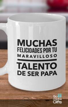 Taza Para Papa - White - 11oz - Cool gift for dad in Spanish.
