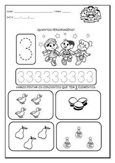 Alfabetizando com Mônica e Turma: Números de 1 a 9