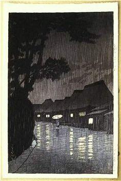 Kawase Hasui, Night Rain