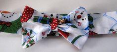 Pretty Bow Baby Headband in Holiday Colors by CrochetnMoreByAlida, $8.00