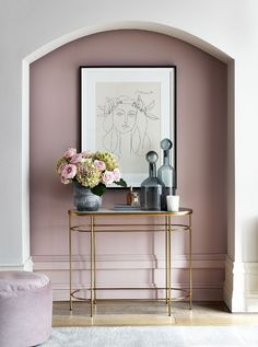 Hallway Decorating 648940627535709877 - A Glamorous Hallway in Pink and Gold and How to Get The Look Source by Flur Design, Home Design, Interior Design, Design Ideas, Gold Interior, Design Design, Design Trends, Boho Living Room, Living Room Decor