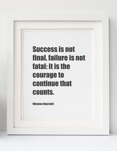 Winston Churchill Success is not Final Digital Download Printable Inspiration Motivational Quote Typography Printable Voice Ready to Print by PrintableVoice on Etsy