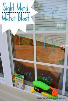 Sight Word Water Blast