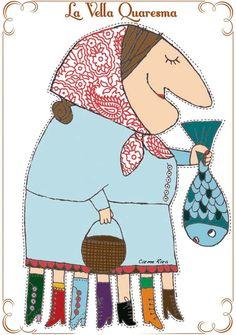 Entrada escrita el 23 Febrero de 2012 y actualizada23 de Febrero de 2015     La Vella Quaresma, según la historia,  era una anciana ... Winter Kids, Paper Dolls, Projects To Try, Arts And Crafts, Kids Rugs, Printables, Album, Spring, Decor