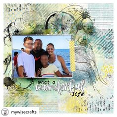 """Posted @withregram • @mywisecrafts Created this fun layout.  One of our rare family photos.  Everything used is by NBK Designs from The LilyPad.  This actual layout was created using a template.  All the other elements used are from """"On the Sunny Side"""" Collection.  #mywisecrafts #wisecraftsmedia  #the_lilypad #digiscrap #digitalscrapbooking #scrapbook #layout #memorykeeping #modernmemorykeeping #scrapbookingideas #artjournaling #digitalartsylayout #artsy #artsylayout #arttherapy #nbk_design"""