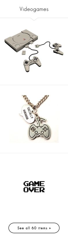 """Videogames"" by that-baekyeol-thing ❤ liked on Polyvore featuring fillers, electronics, accessories, home, decor, jewelry, necklaces, charm jewelry, charm necklace and words"