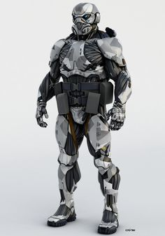 ArtStation - Nanosuit 2 multiplayer character model, Dima Gait