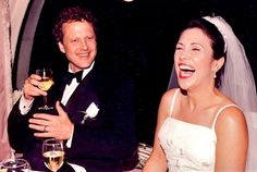 On their wedding day 17 years ago, Bob said something funny to Marianne... and they're both still laughing today. Can you guess what he said?