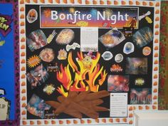 Bonfire night  CLASS PRJECT - MAKE INDIVIDUAL PIECES TO ADD TO BONFIRE, MAKE FLAMES AND FIREWORKS