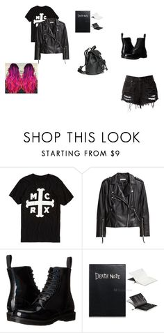 """""""biker girl"""" by thefashionpolice-573 on Polyvore featuring H&M and Dr. Martens"""