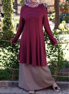 Curved Panel Flared Top    This soft, lightweight modest top is ideal for casual summer wear. It has that something special that you can only get from SHUKR.  Price: £34.95 #shukr www.shukrclothing.com