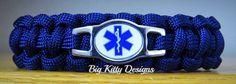 EMT First Responder Blue Paracord Bracelet w/Side Release Buckle  $16.95