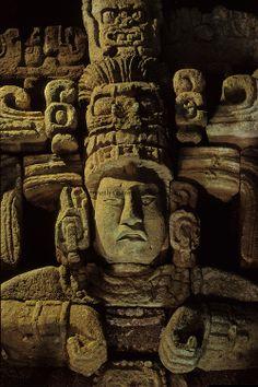 Maya; Honduras; Copan; Barbara Fash, Corn God,Dr. Webster