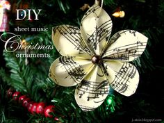 82 Best Sheet Music Ornaments Images Christmas Crafts Music