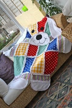 Patchwork Quilting, Dog Quilts, Baby Quilts, Sewing For Kids, Baby Sewing, Quilting Projects, Sewing Projects, Sewing Ideas, Rag Quilt Patterns