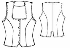 Free vest pattern--lots and lots of free sewing patterns at this site. Free vest pattern--lots and lots of free sewing patterns at this site. Sewing Patterns Free, Free Sewing, Sewing Tutorials, Clothing Patterns, Pattern Sewing, Vogue Patterns, Vintage Patterns, Vintage Sewing, Sewing Projects