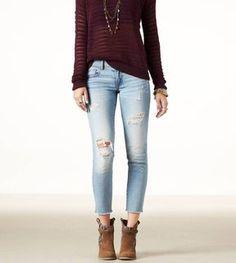 American Eagle Skinny Crop Jean on shopstyle.com.au