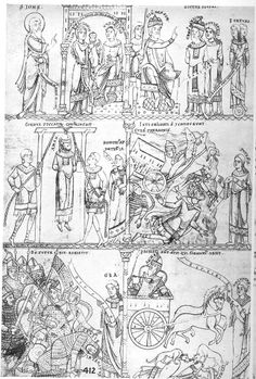 Prufening Miscelany Munich 1158-65 I find the assortment of female characters, religious men, and secular men interesting.
