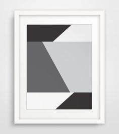 Minimalist geometric wall art - black and white    ===      Print out this modern wall artwork from your home computer or local print shop to