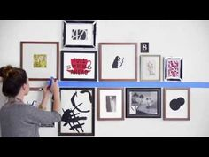How To Hang Wall Art Like A Pro I Love This Video By West Elm Explaining Some Creative Ways And The Supplies You Ll Need Get