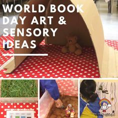 Happy World Book Day! Do you have a favourite book? We love 'We're going on a bear hunt' Find out how you can bring the descriptions to life with my World Book Day art and sensory ideas...
