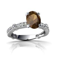 https://ariani-shop.com/14kt-gold-smoky-quartz-and-diamond-8x6mm-oval-milgrain-antique-style-ring 14kt Gold Smoky Quartz and Diamond 8x6mm Oval Milgrain Antique Style Ring