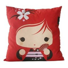 Geisha Girl Pillow by lydia