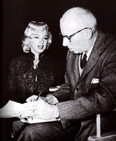Marilyn and Howard Hawks during the filming of Gentlemen Prefer Blondes in 1953. Description from pinterest.com. I searched for this on bing.com/images