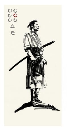 Akira Kurosawa's SEVEN SAMURAI Katsuhiro by Greg Ruth ✤ || CHARACTER DESIGN REFERENCES | キャラクターデザイン • Find more at https://www.facebook.com/CharacterDesignReferences Mais