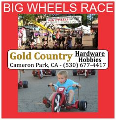 ☼ FAIR ☼ WE ♥ OUR SPONSORS • Gold Country Ace Hardware & Hobbies • Cameron Park, Ca (530) 677-4417 •  Sponsoring the BIG WHEELS RACE at the Fair • June 12-15, 2014 • BUY PRE-SALE TICKETS NOW: https://events.admitoneproducts.com/tkt_sales.php?test=true&event_id=448814&sales