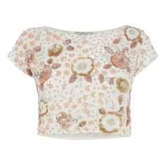The charming Adaria top is cropped for an on trend style and is intricately embellished with multi-coloured beads and sequins. Team with the…