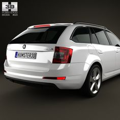 Buy Skoda Octavia Combi 2013 by on The model was created on real car base. 3d Design, Abstract, Summary