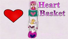 Rainbow Loom 3D Valentines Day Heart Basket - Or Make a Heart Mural
