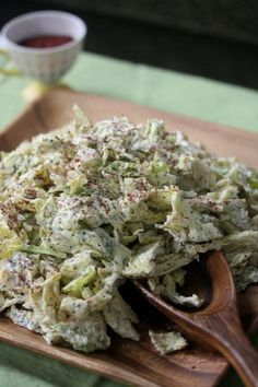Savoy Cabbage Slaw with Sumac, Yogurt, and Mint