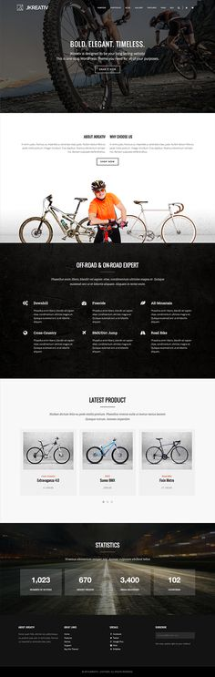 Jkreativ - Multilayer Parallax MultiPurpose Theme by Themes Awards, via Behance