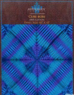"Cube-Bori - Shibori Hand-Dye - 45"" x 45"" PANEL - Celestial-Quilt Fabrics from www.eQuilter.com"