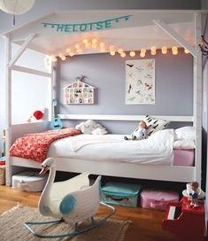 guirnaldas de luces para decorar la habitación infantil