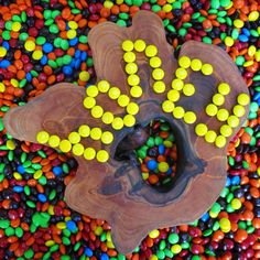 We like chocolate A LOT! honey boards having fun with M&M's.
