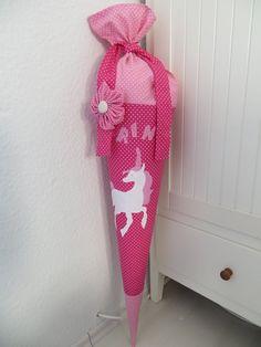 Schultüten - Schultüte Motiv Einhorn, Pferd - ein Designerstück von Fischers-Schaetze bei DaWanda