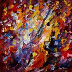 Old-Violin - PALETTE KNIFE Oil Painting On Canvas By Leonid Afremov - http://afremov.com/Old-Violin-PALETTE-KNIFE-Oil-Painting-On-Canvas-By-Leonid-Afremov-Size-24-W-x-24-H.html?utm_source=s-pinterest&utm_medium=/afremov_usa&utm_campaign=ADD-YOUR