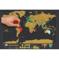Global Scratch Off Map. Document your journey around the world. Perfect gift.  #Walldecor #homedecor #homeporn #travel #travelgift #afflilink #housetohome