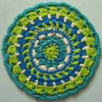 Crochet Mandala Wheel made by Ruth, Germany, for yarndale.co.uk